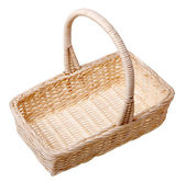 A small basket isolated on white background. — Stock Photo