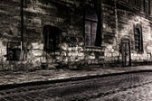 Dark street at night — Stock Photo