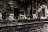 Dark street at night — Stock Photo
