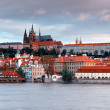 Panorama of old Prague - Stock Photo