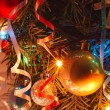 Stock Photo: Christmas tree decorations with lights