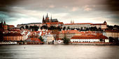 Vintage style photo of old Prague — Stock Photo