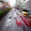 Fast cars moving — Stock Photo