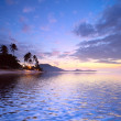 Stock Photo: Sunrise at tropical beach