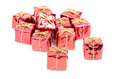 Small holiday gift boxes — Stock Photo