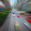 Cars moving on the city highway — Stock Photo #9180595
