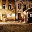 Old European town at night - Stock Photo