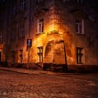 Old European town at night — Stock Photo