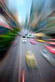 Cars moving on the city highway — Stock Photo