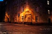 Old European town at night — Stock Photo
