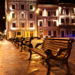 Night view of the old european town — Stock Photo