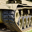 Detail of vintage american M24 tank - Stock Photo