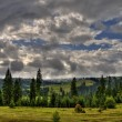 Highlands landscape with cloudy sky — Stock Photo