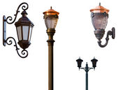 Retro street lamps — Stock Photo