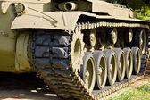 Detail of vintage american M24 tank — Stock Photo