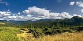 Panorama of mountain landscape — Stock Photo