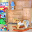 Stock Photo: Cozy baby room with toys