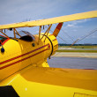 Stock Photo: Yellow vintage plane