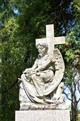 Garden sculpture of angel — Stock Photo