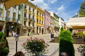 Old streets of Lvov — Stock Photo