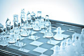Transparent chess — Stock Photo