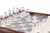 Transparent chess — Stock Photo