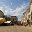 Old cobbled streets of Lvov - Stock Photo