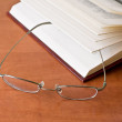 The book with glasses — Stock Photo
