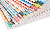 Pila di riviste colorate — Foto Stock