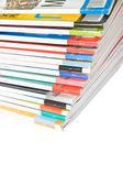 Pile de magazines colorés — Photo