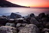 Wschód słońca nad oceanem — Zdjęcie stockowe