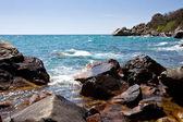 Rocky coastline of Black Sea — Stock Photo