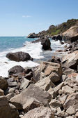Rocky seashore at the Black sea — Stock Photo