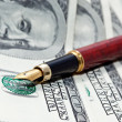 Pen and cash — Stock Photo