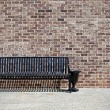 Stock Photo: Metal bench