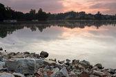 Morning scene on lake — Stock Photo
