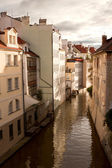 Water channel in Prague — Stock Photo