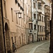 Royalty-Free Stock Photo: Retro style photo of typical european old town street