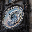 Famous old medieval astronomical clock in Prague — Foto Stock