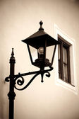Retro style image of street lamp — Stock Photo