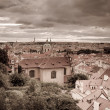 Stock Photo: Retro style photo of old part of Prague