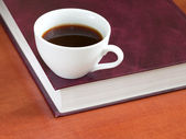 Coffee and book — Stock Photo