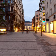 Night shot of Munich street — Stock Photo