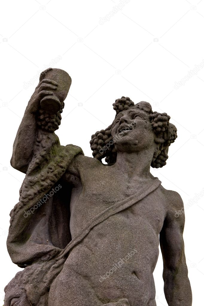 statue of greek god of wine dionysus � stock photo