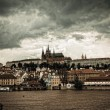 Vltava river and cityscape of Prague - 图库照片