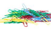 Multi-colored paper clips — Stock Photo