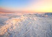 Zimowy krajobraz morze mrożone — Zdjęcie stockowe