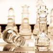 Transparent glass chess — Stock Photo #9575992
