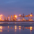 Industrial sea port — Stock Photo