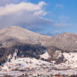 Stock Photo: Alpine winter mountain scenery